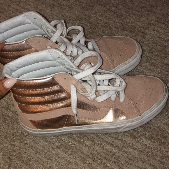 Vans Shoes   Hightop Womens Rose Gold